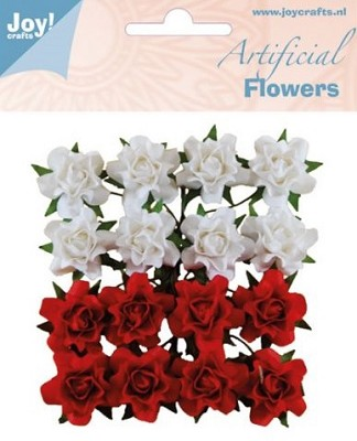 Joy! Crafts - Artificial Flowers wit/rood 6370/0067