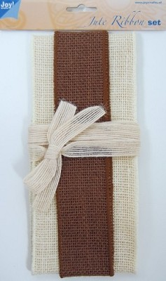 Joy! Crafts - Jute ribbon set - brown