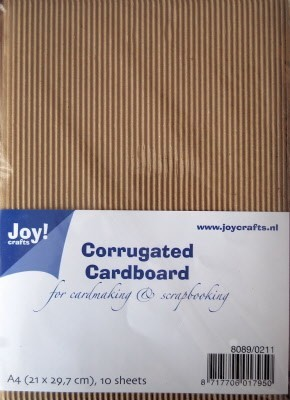 Joy! Crafts - Corrugated (Ribbel) Cardboard A4 - Grof