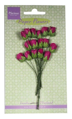 Marianne D Decoration Roses bud - medium pink RB2241