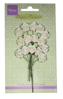 Marianne D Decoration Roses - white RB2244