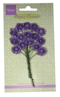 Marianne D Decoration Roses - dark lavender RB2249