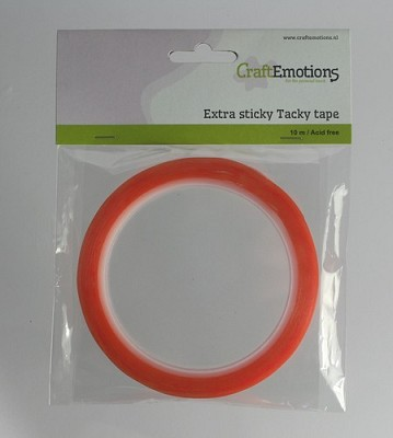 CraftEmotions Extra sticky tape 9 mm 10 MT 1 RL 3.3189