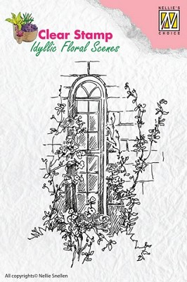 Nellie`s Choice Clearstamp - Idyllic Flora Raam IFS004