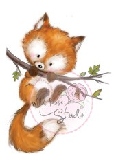 Wild Rose Studio`s A7 stamp set Fox on Branch CL450