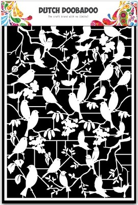 Dutch Doobadoo Dutch Paper Art vogels 2 - A5 472.948.039