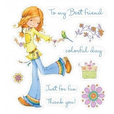 Scrapberrys - Set Of Clear Stamps - Wonderful Day