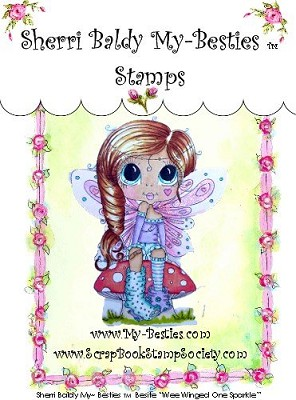 My Besties - Clear Stamps Wee winged one Sparkle