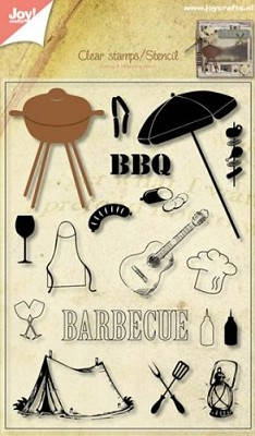 Joy! Crafts - Snijstencil/Clearstamp BBQ pakket