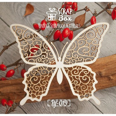 "Chipboard ""delicate butterfly"" №2 Hf-019"