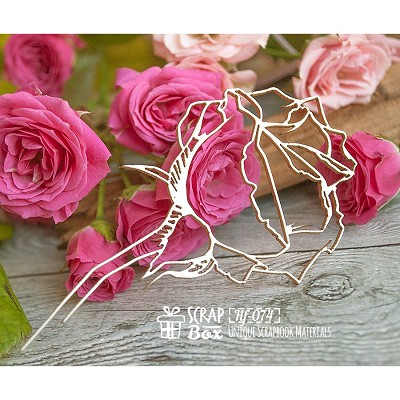 Chipboard Rose Hf-074