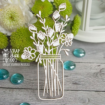 Chipboard willow in jars Hf-100