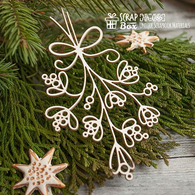 Chipboard mistletoe decorative Hh-086