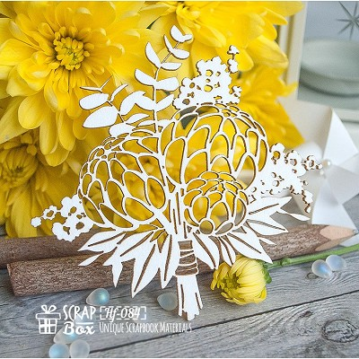Chipboard bouquet Hf-084