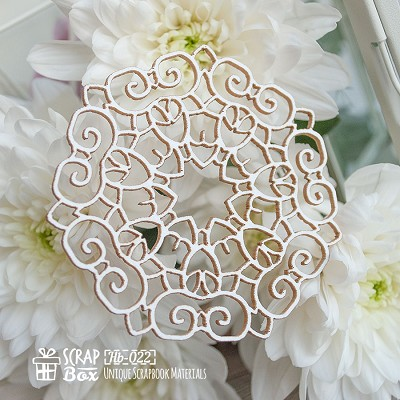 Chipboard openwork napkin small Hb-022