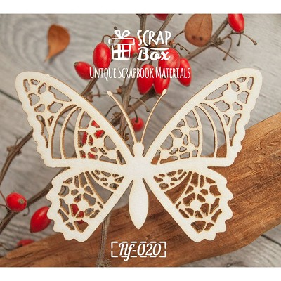 "Chipboard ""delicate butterfly"" №1 Hf-020"