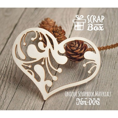 "Chipboard ""Decorative heart"" №5 Hm-006"