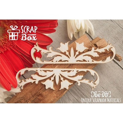 "Chipboard border ""Flower Baroque"" №1 Hw-011"