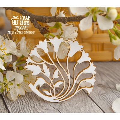 Chipboard a bouquet of lilies in the style of Art Nouveau-Hf-053