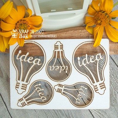 "Chipboard set of bulbs ""Idea"" Ht-040"