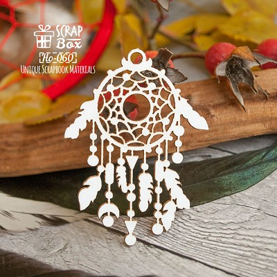 Chipboard Dreamcatcher small ethnic Ho-060