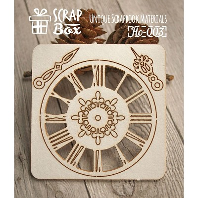 "Chipboard set ""Clock"" №1 Ho-003"