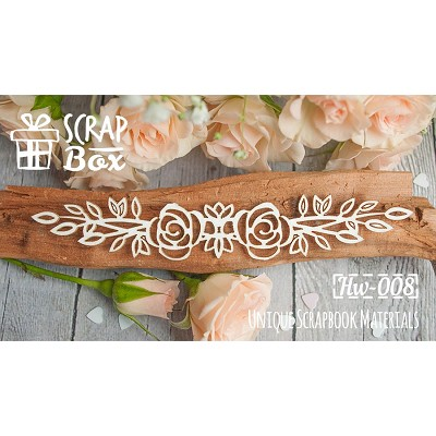 "Chipboard border ""Roses"" №1 Hw-008"