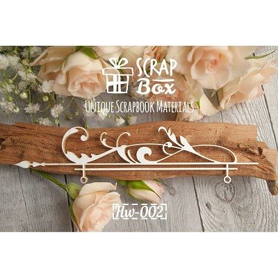 "Chipboard border ""with Baroque elements"" №2 Hw-002"