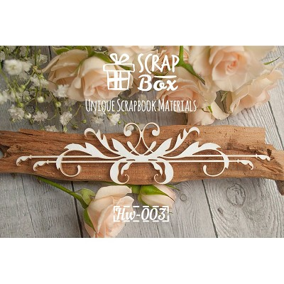"Chipboard border ""with Baroque elements"" №1 Hw-003"