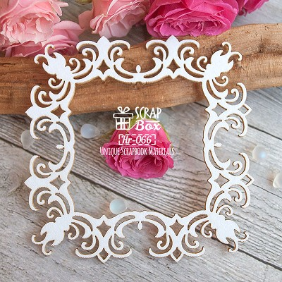 Chipboard Floral frame Hr-066