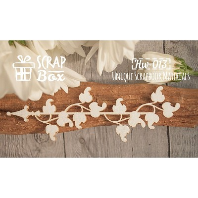 "Chipboard border ""frizzy ivy"" Hw-013"