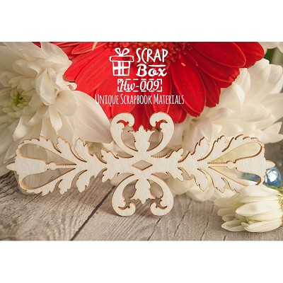 "Chipboard border ""Flower Baroque"" №2 Hw-009"