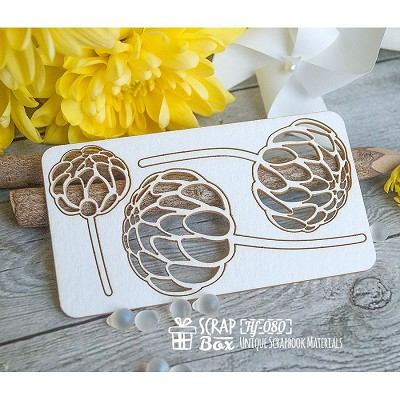 Chipboard peonies Hf-080
