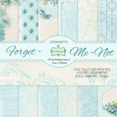 Set of scrapbooking papers - Forget me not