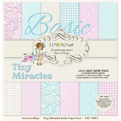 Stack of basic scrapbooking papers - Tiny Miracles 12 x12