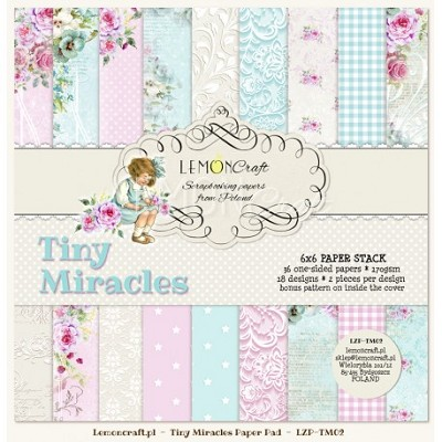 Pad of scrapbooking papers - Tiny Miracles 6x6