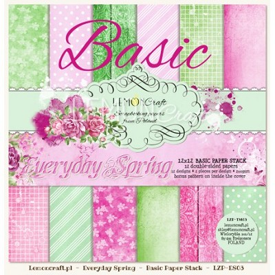 Stack of basic scrapbooking papers - Everyday Spring 12 x 12