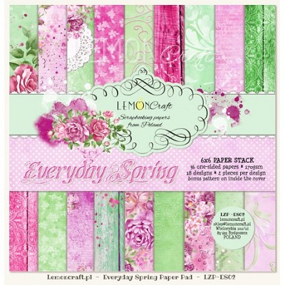Pad of scrapbooking papers - Everyday Spring 6x6