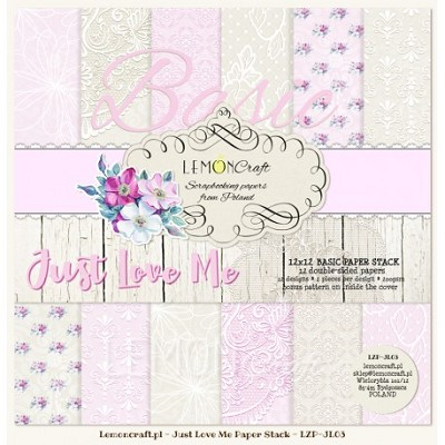 Stack of basic scrapbooking papers - Just Love Me  12x12