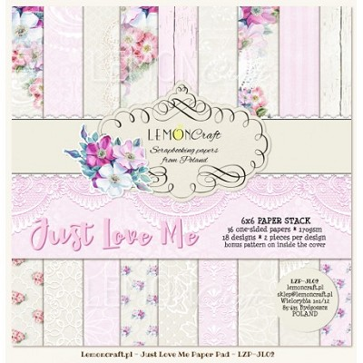 Pad of scrapbooking papers - Just Love Me 6x6