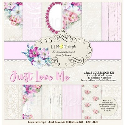 Set of scrapbooking papers - Just Love Me 12x12