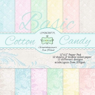 Stack of basic scrapbooking papers - Cotton Candy 12x12