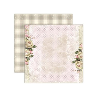 Double sided scrapbooking paper, House of Roses - Tea roses 12 x12