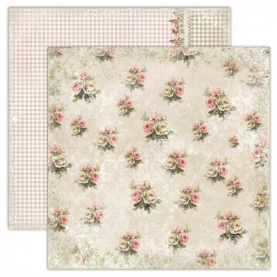 Double-sided scrapbooking paper, Houses Of Roses - Old-fashioned dress 12x12