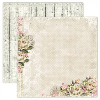Double sided scrapbooking paper, House of Roses - Time Flies 12x12