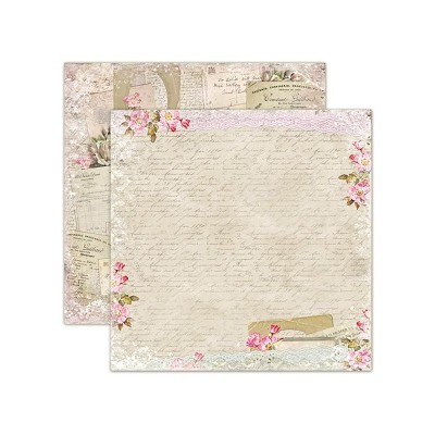 Double sided scrapbooking paper, House of Roses - Old Letters 12x12