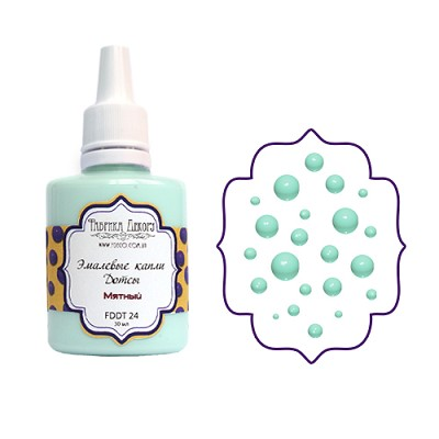 Fabrika Decoru - Liquid enamel dots - color Mint