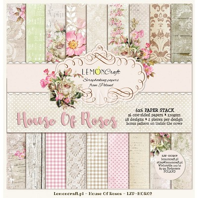 Pad of scrapbooking papers - House OF Roses 6x6  LZP-HOR02
