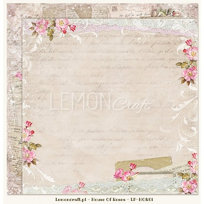 Double sided scrapbooking paper - Houses Of Roses 01
