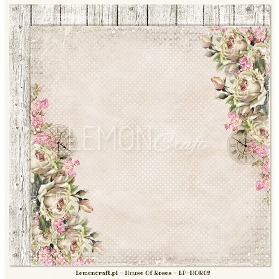 Double sided scrapbooking paper - Houses Of Roses LP-HOR02